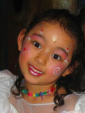 Maquillage pour l'anniversaire des 6 ans d'athénaïs